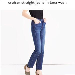Madewell Cruiser Straight Jean